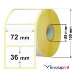 Etichette Adesive Termiche 72×36