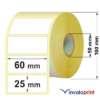 etichette 60x25 in bobina