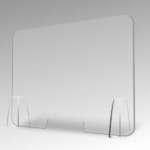Barriera protettiva da banco in plexiglass