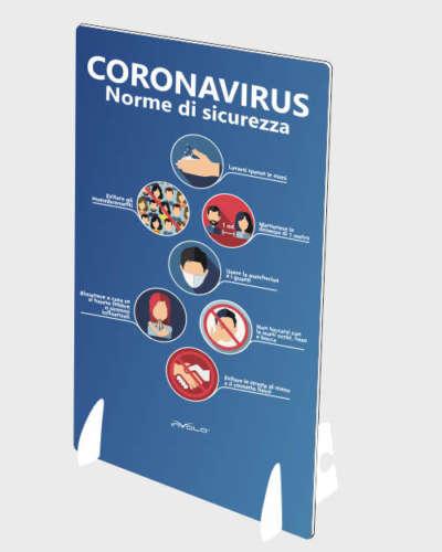 Espositore da banco raccomandazioni coronavirus