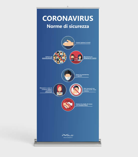 roll-up avvertenze coronavirus