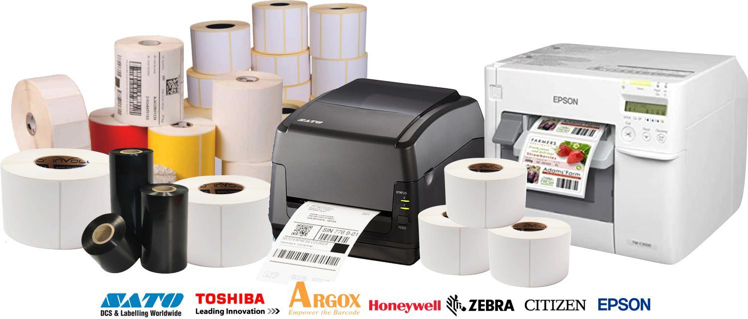 banner etichette adesive in rotolo per stampanti termiche e inkjet