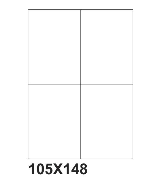 etichette adesive a4 105x148