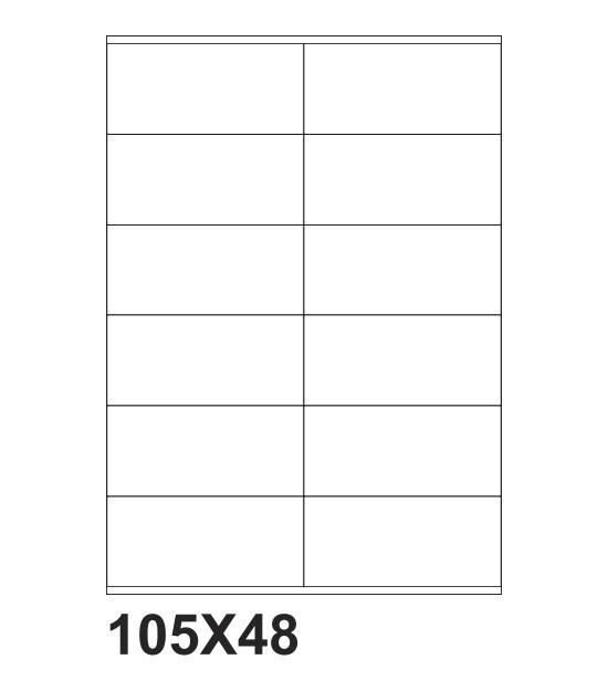 etichette adesive a4 105x48