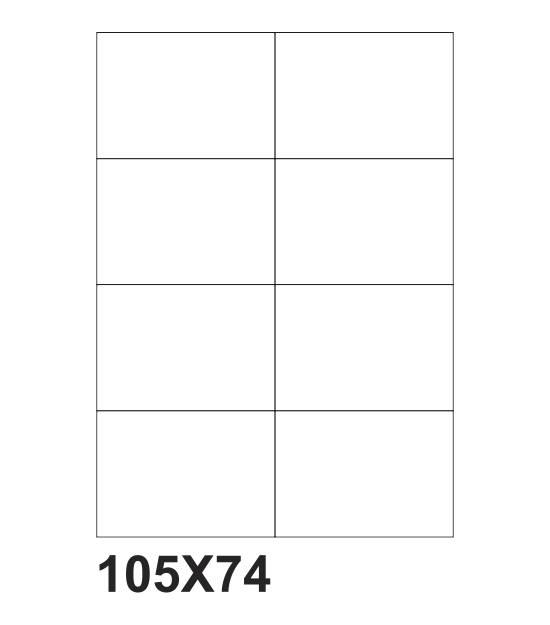 etichette adesive a4 105x74