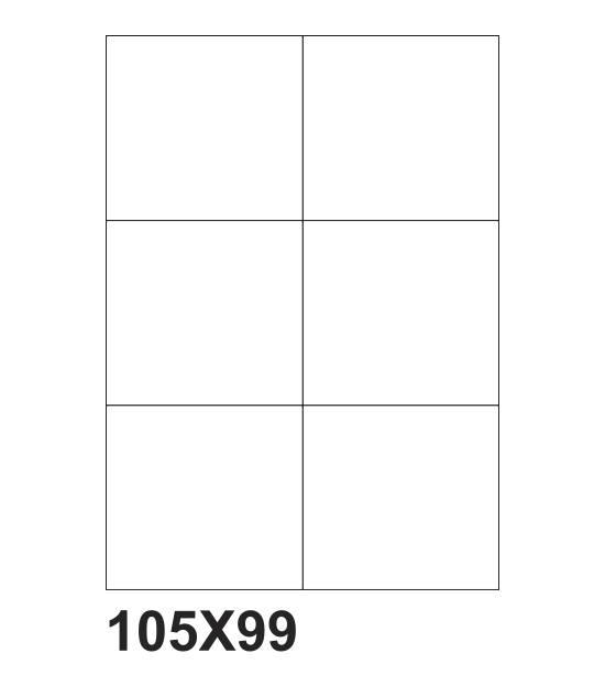 etichette adesive a4 105x99