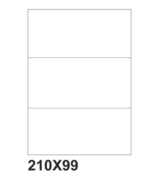 etichette adesive a4 210x99