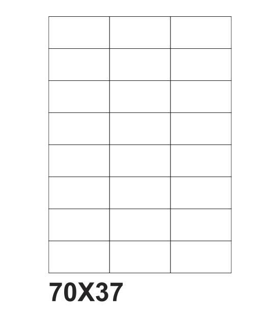 etichette adesive a4 70x37