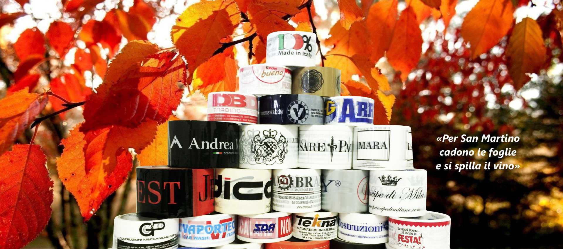 banner nastro adesivo personalizzato novembre